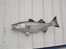 "43"" Striped Bass Half Mount Fish Replica ROCKFISH"