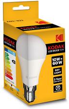 4 x KODAK LED GLOBE A60 BULB B22 10W/60W DAY LIGHT (ENERGY CLASS A+) 30415676