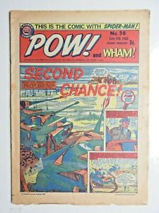 Pow! and Wham! comic No 58 - 24th Feb 1968 Spider-man Fantastic Four X-Men VG+