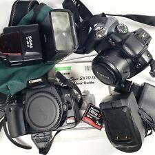 Canon Rebel XTi & Powershot SX10 IS Digital SLR Camera Lot / Bundle *Working*