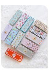 12pcs Empty Tinplate Tin Metal Container Small Storage Collectables