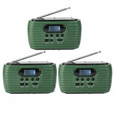 3X Portable Solar FM/AM Emergency Radio MP3 Player Flashlight Cell Phone Charger