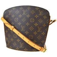 Auth Louis Vuitton Drouot Shoulder Bag Monogram Leather Brown M51290 86MD522