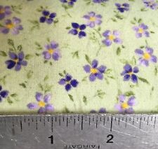 Robert Kaufman Sage/Lavender 100% Cotton Flannel Print by the Yard