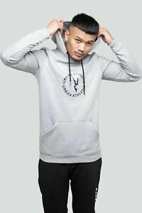 Mens Plain Coloured Pullover Hoodie Fleece Jacket Hooded Sweatshirts Tops Hoody