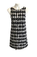 Bobeau Nordstrom's Woman's Shift Dress SIZE XS Black White Geometric Lined NWOT