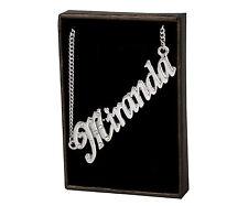 "Name Necklace ""MIRANDA"" –18K Gold Plated | Name Plate Pendant Birthday Designer"
