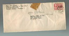 1955 Taipei Taiwan airmail cover to USA Yale University
