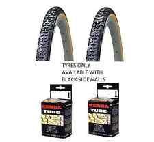 Kenda Tyre Kross Cyclo 700cx35c Hybrid Bike 2X Black Tyres + Tubes Presta Valve