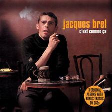 Jacques Brel C'EST COMME CA Remastered 3 ORIGINAL ALBUMS New Sealed 2 CD