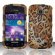 Samsung Galaxy Proclaim Crystal Diamond BLING Hard Case Phone Cover Cheetah