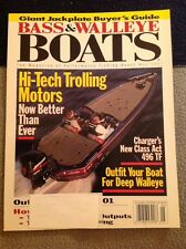 Bass & Walleye Boats BWB Magazine Issue 2001 May Charger 496 TF Hi Tech Trolling