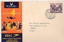 1959 KENIA POSTA AEREA ITALIANA BOAC VOLO NAIROBI-ROMA 4/10 B/4465