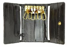 Genuine eel skin key holder wallet with snap button closure by Marshal®