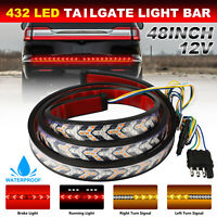 "48"" Inch Truck Tailgate LED Light Bar Brake Reverse Turn Signal Stop Tail Strip"
