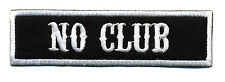 No Club patch badge Lone Wolf motorcycle biker MC vest jacket black white