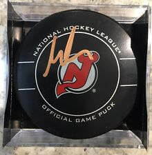 SIGNED OFFICIAL NHL GAME PUCK NEW JERSEY DEVILS MARTIN BRODEUR