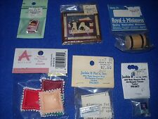 Miniature accessories: ice cream churn, cones, etc, 1:12 scale, Nib, lot #6