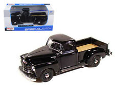 1950 Chevrolet 3100 Pickup Truck Black 1:25 Diecast Model - 31952bk *