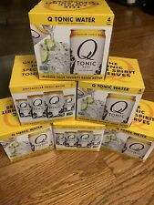 6 PACK! Q-Drinks Spectacular Q Tonic Water with Quinine. 24 Total Cans.