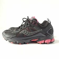 Saucony Excursion TR6 Grid Running Shoes Womans Size 7 Black/Pink 15107-4