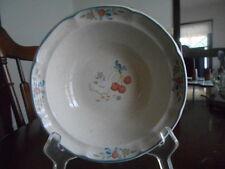 "Marmalade Cereal Bowl (s) 7"" Goose Heart International Stoneware White Orange !"