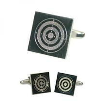 Range Target Engraved CUFFLINKS Bullseye Archery Shooting Birthday Present