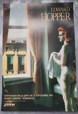 HOPPER EDWARD affiche originale exposition 1989