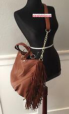 NWT Rare Steve Madden Large Handbag Purse Cognac Fringe Crossbody Brown Bag