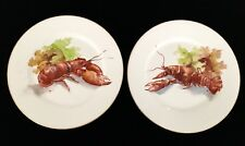 LIMOGES RARE PAIR OF LOBSTER PLATES C. 1890 FLAMBEAU EXCELLENT