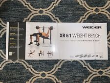 Weider XR 6.1 Weight Bench Press with Leg Developer and Exercise Chart Home Gym