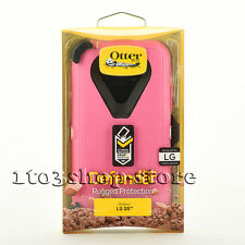 OtterBox Defender LG G5 Pink Rugged Hard Shell Case w Holster Belt Clip