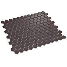 hexagonal hexágono NEGRO MATE azulejos mosaico Mosaicos 2,3 x 2,3cm