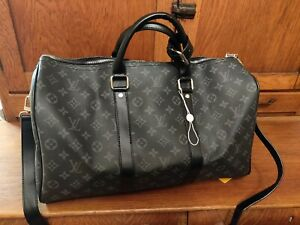 Louis Vuitton Keepall 45 Bandouliere (Monogram Macassar Canvas)