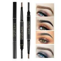 2 in 1 Waterproof Drawing Eye Brow Eyeliner Eyebrow Pen Pencil Makeup Brush HOT