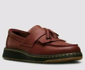 NEW!! DR MARTENS - EDISON - Cherry Red Loafers Size UK 6