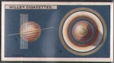 Two Views of Saturn Solar System Telescope  Astronomy  c90 Y/O Trade Ad Card