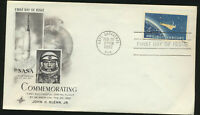 #1193 John Glenn Project Mercury - SPACE ARTCRAFT Engrav Cachet FDC UA LOT 1254