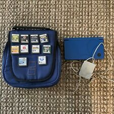 Nintendo DSi XL Blue Bundle Lot w/ Case 10 Games Mario Party Sonic Star Wars