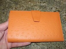 vintage Wallet Rolfs cowhide faux ostrich look nib old stock as is clutch purse