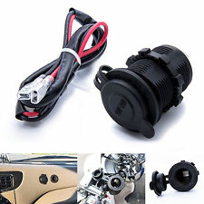 12V / 24V Waterproof Power Motorcycle Boat Car Cigarette Lighter Socket Plug