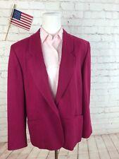 Pendleton Women's Solid Pink Wool Blazer Sport Coat Suit Jacket Size 4 $398