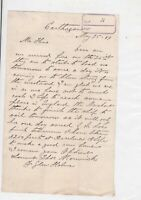 Capt. Morwick 1889 to Hine Brothers Shipping Letter Ref 37004