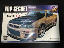 top secret Skyline Gtr R34 Aoshima Ver.R 1/24 modelkit*Jdm started not complete