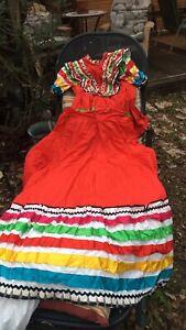 Red Folklorico Jalisco Dress