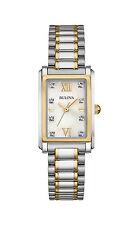 Bulova Diamond Collection Women's 98P144 Quartz Two-Tone Rectangle Case Watch