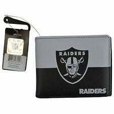 Brand New NFL Oakland Raiders Men Women Synthetic Leather Bi-Fold Wallet