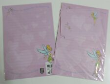 Disney Fairy Tinkerbell Pixie Stationery Envelop Stationary Lined Letter Set NEW