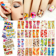 50 Sheets Flower Manicure Decals Nail Art Stickers Decor Water Transfer DIY New