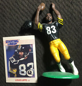 1988 Rookie Louis Lipps open w/card Starting Lineup SLU 🔥 📈 Steelers RARE